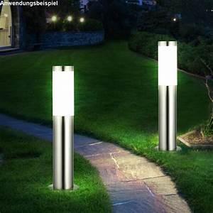 Garten Stehleuchten Aussen : zwei rgb led stehlampen aus edelstahl ~ Lateststills.com Haus und Dekorationen