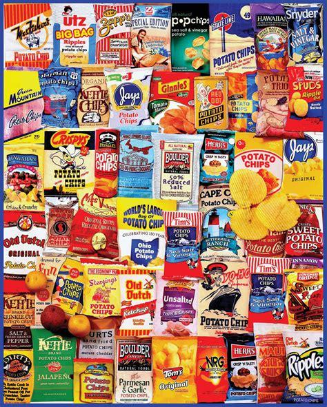 Potato Chips 1000 Piece Collage Jigsaw White Mountain