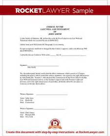 Joint Venture Term Sheet Template Codicil To Will Codicil To A Will Form With Sle