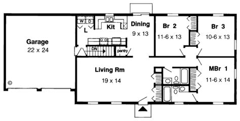 traditional house plan  bedrooms  bath  sq ft