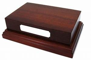 "Mahogany Wooden Display Plinth Base 6x4"" Top for Ornaments"