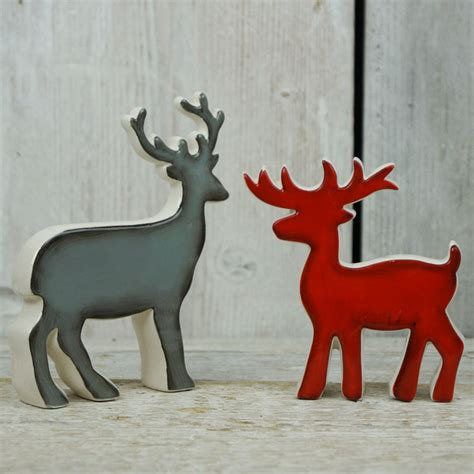 ceramic reindeer satchville gift co christmas display