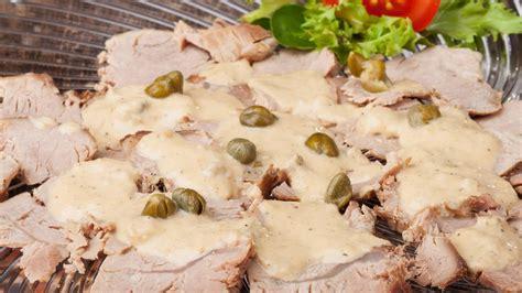 vitello tonnato auf radieschen rucolasalat von armin