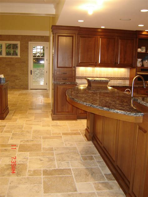 travertine floors   heated floor system