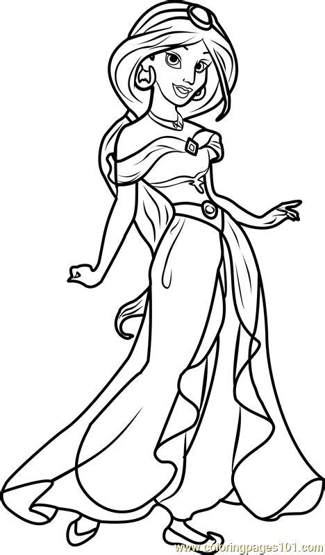 princess jasmine coloring page  disney princesses