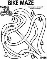 Coloring Bike Maze Printable Crayola Safety Pages Bicycle Path Dirt Draw Finish Crafts Preschool Worksheets Activity Activities Sheet Craft Motorcycle sketch template
