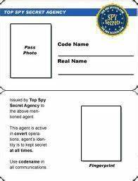 secret agent badge template free printable - Google Search