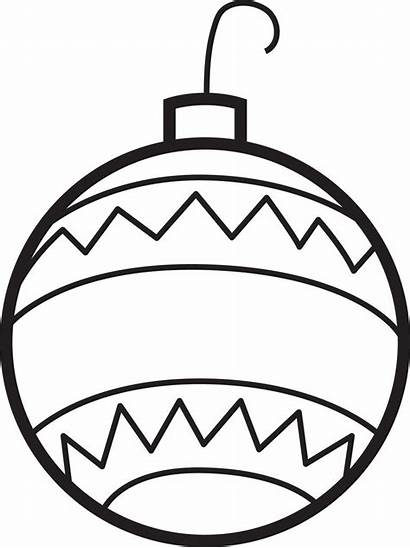 Christmas Coloring Ornaments Ornament Printable Ball