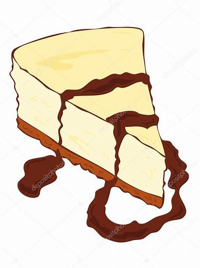 Cheesecake Slice Melted Chocolate Milla74 Depositphotos