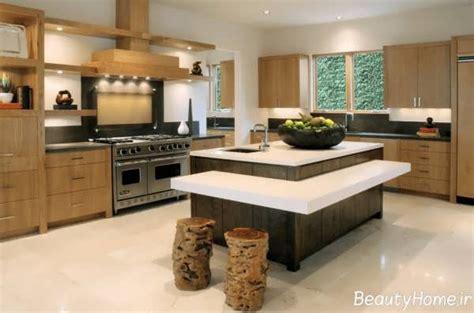 bi level kitchen island مدل کابینت جزیره ای مدرن و جدید برای آشپزخانه های امروزی 4619