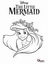 Coloring Mermaid Ariel Bubakids Cartoon Printable Sheets Colors sketch template