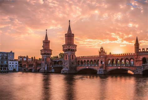 Berlin Oberbaumbrücke @ Sunset  No Hdrdri ! This Is A Proc… Flickr