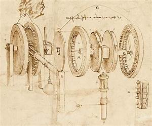 Exploded View By Leonardo In His Design Drawing Of A