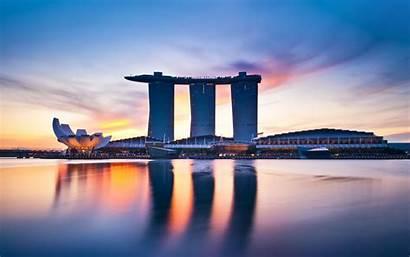 Singapore Ocean Houses Shine Wallpapers Wallhere