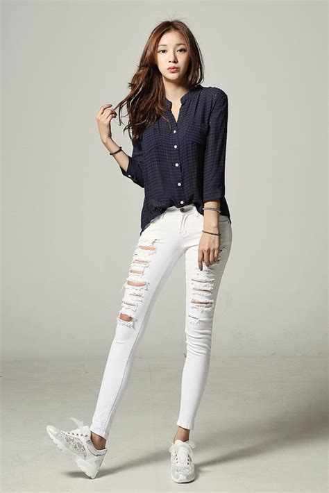 Korean Outfit For Girls Jeans