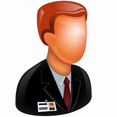 Icon Clipart Employee Case Business Job Male