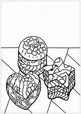 Coloring Cupcake Cup Cupcakes Cakes Coloriage Colorear Colorare Adults Disegni Adulti Justcolor Adultos Erwachsene Malbuch Fur Desserts Simple Imprimer Gateaux sketch template