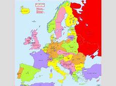 Hisatlas Map of Map of Europe 19131921