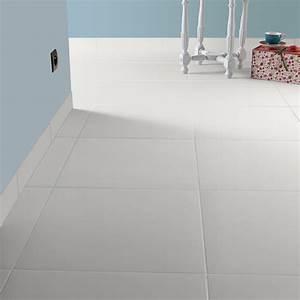 Sol Pas Cher Pour Salon : carrelage sol et mur blanc blanc 0 effet b ton universo l ~ Premium-room.com Idées de Décoration