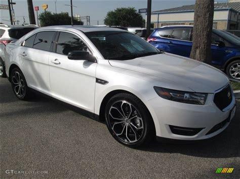 white platinum metallic  ford taurus sho awd exterior
