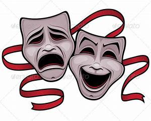 Broadway clipart comedy tragedy mask - Pencil and in color ...