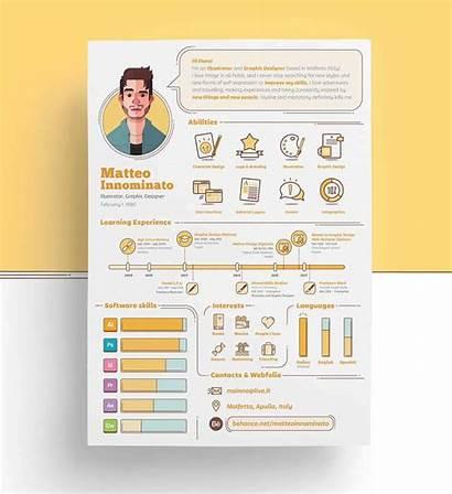 Resume Visual Creative Templates Infographic Designs Cv