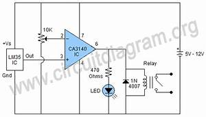 Temperature Controlled Switch Using Lm35  U0026 Ca3140