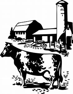 Cow | Free Stock Photo | Illustration of a cow by a barn ...