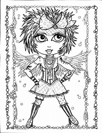 Coloring Pages Gothic Angel Angels Fairy Goth