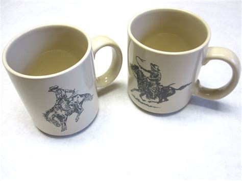 Basically, cowboy coffee is much like any other coffee. Cowboy Up Coffee Cups Tea Mug Fathers Day Gift Set Of Two Riding Bucking Horse   Tea mugs, Mugs ...
