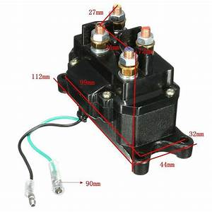 12v Atv Utv Suv Solenoid Relay Contactor Winch Rocker Switch Thumb Wiring Combo