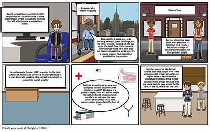Health Issues Storyboard Contemporary Storyboards Slide