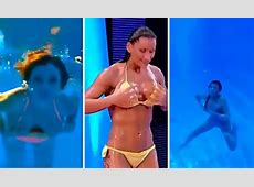 Bikini babes suffer nip slips during steamy diving