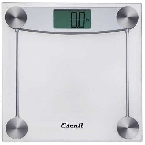 escali clear glass bathroom scale   case price