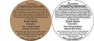 candle warning labels customized with your information With custom candle warning labels