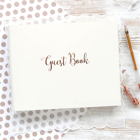 Wedding Guest Book by Personalised Gold Wedding Guest Book By Begolden