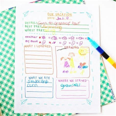 Travel Template For Kids by Travel Journal Template For Kids Craft Gawker