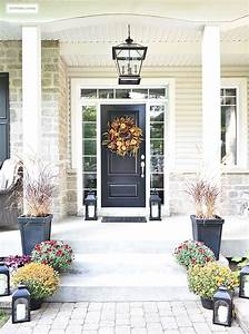 An, Elegant, Front, Porch, Decorated, For, Fall