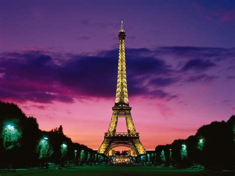 eiffel tower  night paris france wallpapers hd