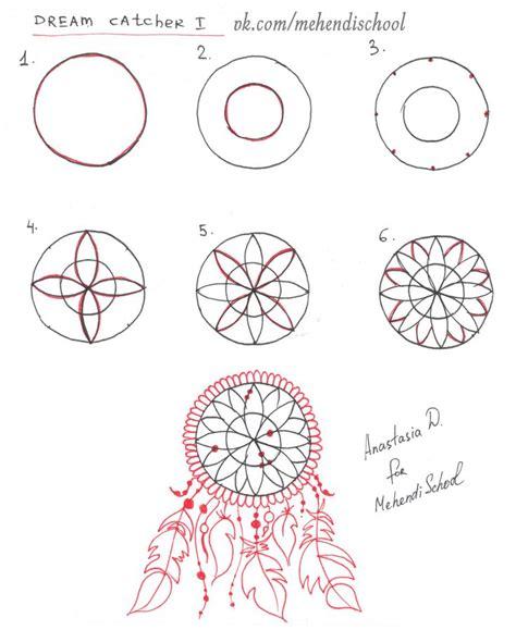 draw dream catcher henna easy tutorial diy