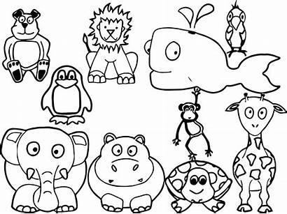 Coloring Animals Animal Pages Printable Sheets Farm
