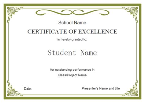 Free Award Certificate Templates For Students by Student Certificate Free Student Certificate Templates
