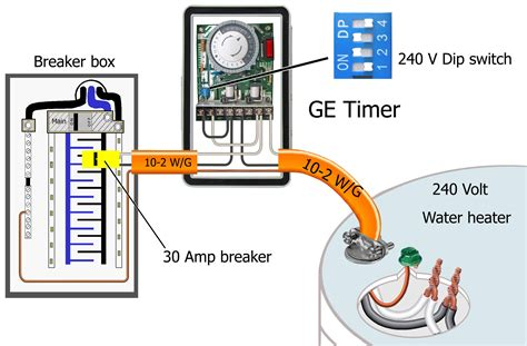 how to wire ge 15207 timer in 240 volt light wiring