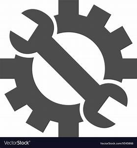Hardware Maintenance Flat Icon Royalty Free Vector Image