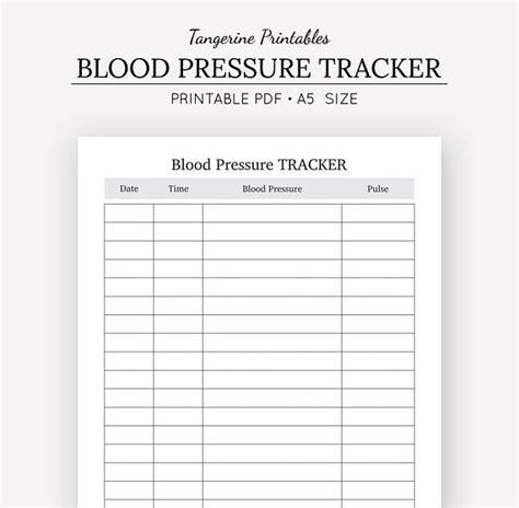 blood pressure tracker health journal  insert
