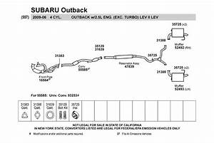 33 2001 Subaru Outback Exhaust System Diagram