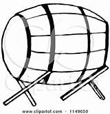 Barrel Clipart Stand Keg Retro Illustration Royalty Coloring Prawny Vector Template sketch template