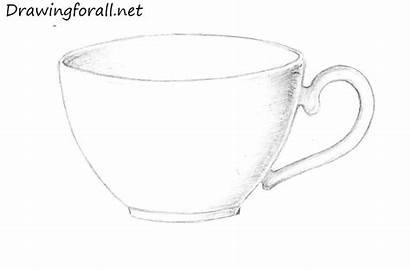 Cup Draw Drawing Easy Today Realistic Drawingforall