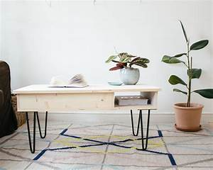 DIY La Table Basse Ses Hairpin Legs Sans Clou Ni