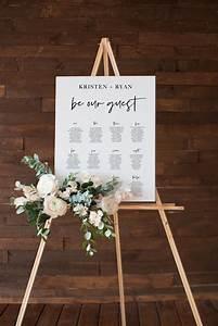 Printable Wedding Seating Chart Modern Seating Plan